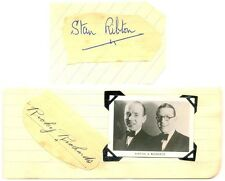 Ribton & Richards signed autograph pages + photo 1940s musical duo Stan Ricky