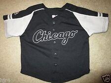 Chicago White Sox Majestic Black Baseball Jersey Toddler 3T