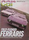 CAR 02/1983 featuring Ferrari 308GTBi, Mondial, Renault, Alfa Romeo, Audi
