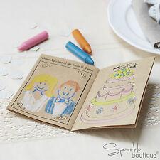 CHILDREN'S WEDDING ACTIVITY BOOKS -Kids Entertainment Kit Favours- Vintage/Kraft