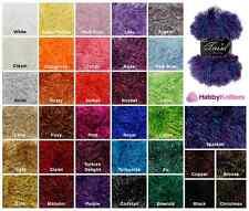 King Cole Tinsel Chunky Knit Wool Yarn Eyelash Sparkle Glitz Knitting Crochet