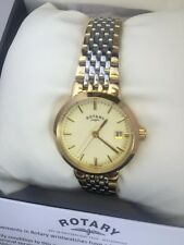 New Ladies Rotary Gold Plated Adjustable Two-Tone Bracelet Watch. BRAND New