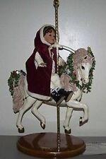 NUOVO Ashton Drake WINTER SPLENDOR CAROUSEL + Bambola Gaby rademann Ideale Natale