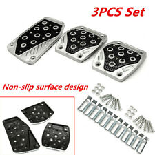 3PCS Aluminum APC Non-Slip Car Foot Pedals Pad Cover Brake Clutch Accelerator