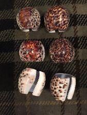 Fabulous Set Of 6 Sea Shell Napkin Rings