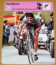 CYCLISME CICLISMO GIAMBATTISTA BARONCHELLI GIRO TOUR FRANCE AVENIR LOMBARDIE