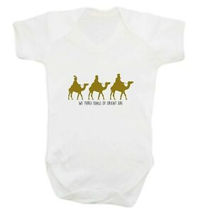 We three king of orient are, baby vest Christmas carol royal Nativity camel 1102