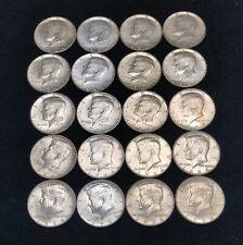 """1964 Kennedy 90% Silver Half Roll ~ 20 coins - $10 FACE (AU/BU/ """"Shiners"""")"""