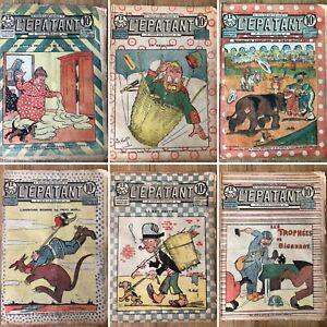 1918 RARE : lot de 6 journaux L'épatant (Les Pieds Nickelés)