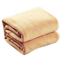 70*100cm Sofa/air/bedding Throw Double Faced Travel Flannel Blanket V4E5