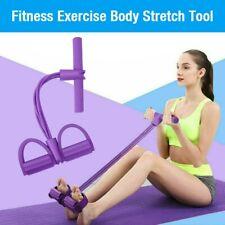 Fußpedal 4-Rohr-Zugseil Widerstandsband Yoga-Übung Sit-up Trainingsgerät Fitness