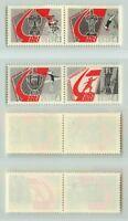 Russia USSR, 1967 SC 3338a, 3340a MNH, pairs. f5302