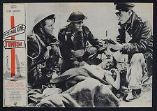 FOTOBUSTA 5, DESTINAZIONE TUNISI Steel Bayonet LEO GENN, CARRERAS WAR POSTER