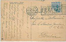 ITALIA REGNO: Sass 83n   Dentelatura sposta su CARTOLINA  1921
