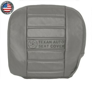 2003, 2004 Hummer H2 SUV, SUT Driver Side Bottom Leather Seat Cover Wheat Gray
