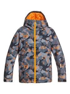 Boy's QUIKSILVER Mission Printed Snow Jacket Ski Snowboard FLAME WICHITA (nkp7)