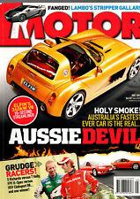 MOTOR  MAGAZINE 2007 cars Australia Elfin V8 Mini Cooper S Audi A5 Gallardo