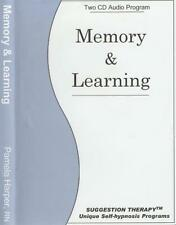 Memory & Learning Suggestion Therapy AUDIO BOOK CD Pamela Harper self hypnosis