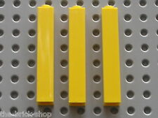 3 x LEGO yellow brick 2453 / set 7997 6543 4513 6276 7775 4554 ...