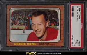 1966 Topps Hockey Gordie Howe #109 PSA 7.5 NRMT+