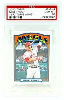 2013 Topps 1972 Topps Minis Angels MIKE TROUT Baseball Card PSA 10 GEM MINT