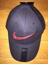 Nwt Boys Nike Black Red Baseball Cap Hat Size 4-7 Just Do It Swoosh