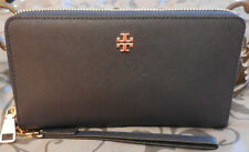 Tory Burch ~EMERSON ZIP PASSPORT CONTINENTAL Wristlet Wallet ~NAVY~ NWT $195