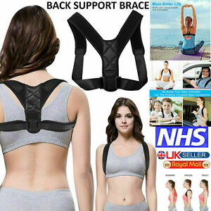 Posture Corrector Back Body Brace Adjustable Lumbar Shoulder Spinal Belt Support