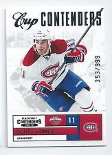 Scott Gomez 2011-12 Panini Contenders Cup Contenders Subset Card #116