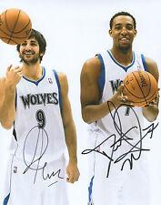 Ricky Rubio & Derrick Williams MN Timberwolves Signed Auto 8x10 Photo COA GFA