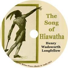 Song of Hiawatha, Henry Wadsworth Longfellow Audiobook on 3 Audio CDs Free Ship