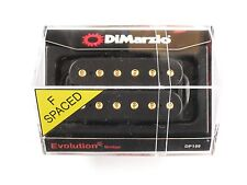 DiMarzio F-spaced Evolution Bridge Humbucker Black W/Gold Poles DP 159