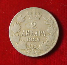 Münze Coin Jugoslawien Jugoslavija 2 Dinar Dinara 1925 (F8)