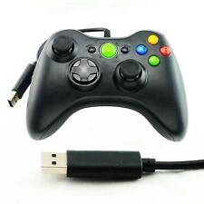 Fit XBox360 Black Wired USB Gamepad Controller Joystick Joypad for Microsoft PC