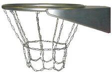 Baloncesto canasta de basquetball con red acero Inox. AISI 304 cadena Loggyland