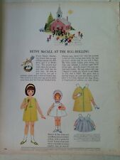 1964 Betsy McCall at the egg rolling Paper Doll Easter vintage ad