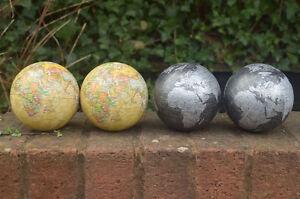 "4x Decorative world globe 4"" ball atlas ornament Christmas decorations novelty"