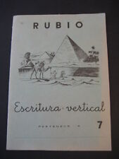 WRITING VERTICAL NO.7. ED. BLONDE. ANTIQUE NOTEBOOK SCHOOL YEAR 1962. PYRAMIDS