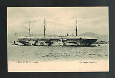 1910 Mint RPPC Postcard Warship British England Navy HMS Jamar in Hongkong Bay