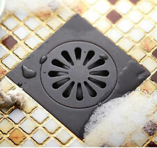 Black Oil Rubbed Brass Bathroom Floor Drain Waste Grate Shower Drainer