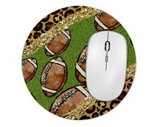 Leopard Football Round Mouse Pad Mice Mat For Laptop Notebook Computer PC Gaming