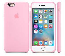 NEU LIGHT HELL PINK ECHT GENUINE Apple Silicone Case Silikon Hülle iPhone 6S 4.7