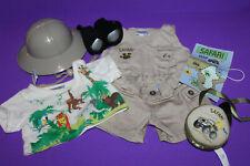 Build a Bear Workshop Safari Outfit & Canteen Map & Binoculars