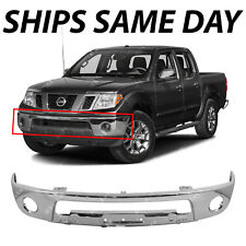 NEW Chrome Steel Front Bumper Face Bar for 2005-2017 Nissan Frontier With Fog