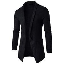 Men's Winter Long Sleeve Slim Knitted Cardigan Warm Sweater Jumper Jacket Coat