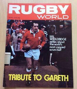 Rugby World Magazine Apr 78 Gareth Edwards Wales Tribute & Poster Uk Freepost