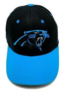 CAROLINA PANTHERS hat flexfit fitted black / blue cap - size L / XL