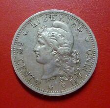 ARGENTINA SILVER COIN 50 Centavos, KM28  AU  1883