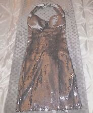NEW Guess by Marciano Cocktail Corset Dress Silver Sequins sz XS Ret $348