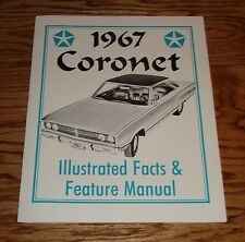 1967 Dodge Coronet Illustrated Facts Feature Manual Brochure 67